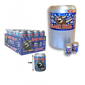 Black Bull candy cans