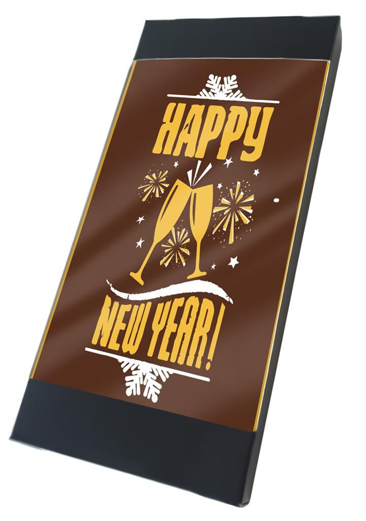 "Tablette chocolat  ""Happy New Year!"""