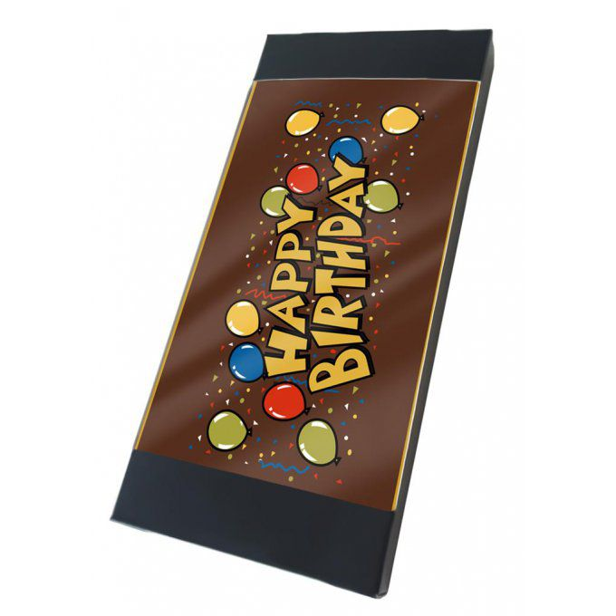 "Tablette chocolat  ""Happy Birthday"""