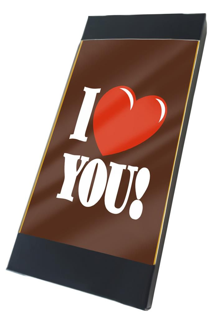 "Tablette chocolat  ""I Love You"""